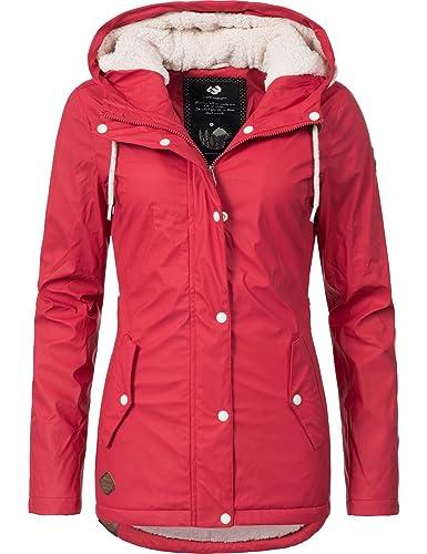 Ragwear - Abrigo - para mujer rojo pimiento Large