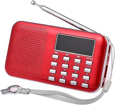 Docooler Mini FM Radio Digital Portátil 3 W Altavoz Estéreo Reproductor de Audio MP3 Calidad de Sonido de Alta FIDELIDAD con 2 Pulgadas Pantalla de Pantalla Soporte USB Unidad de Tarjeta TF: