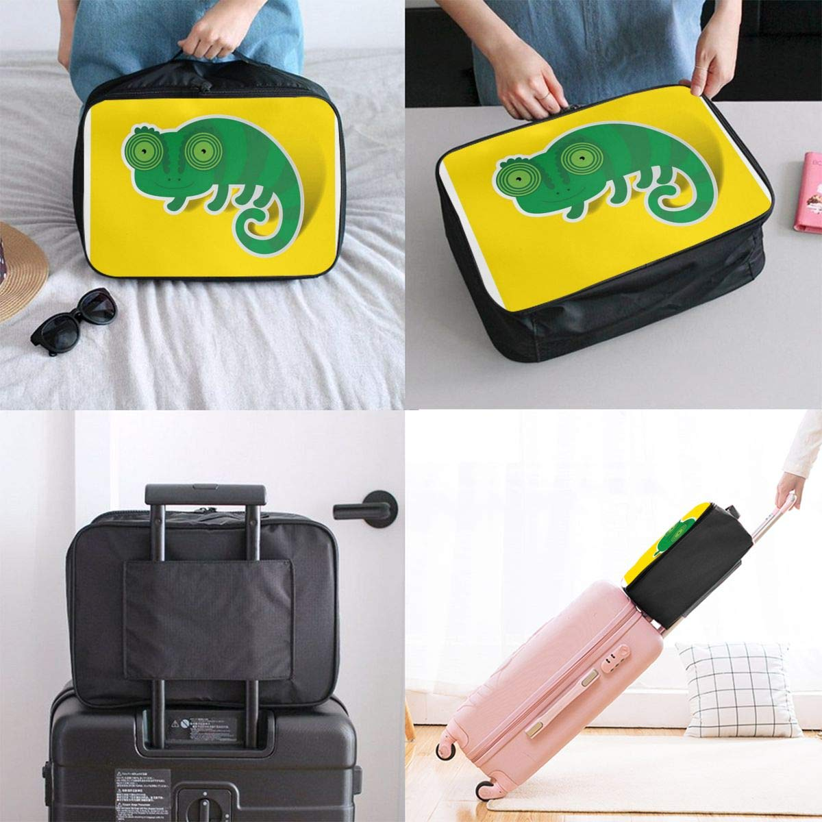 Lightweight Large Capacity Portable Luggage Bag Ceramic Donut Style Coffee Travel Waterproof Foldable Storage Carry Tote Bag