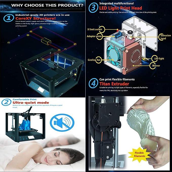 Kit De Bricolaje para Impresora 3D con Alta PrecisióN, FáCil De ...