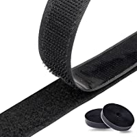 Velcro zelfklevend 8M extra sterk dubbelzijdig klevend | klittenbandsluiting | zelfklevend kleefpad, 20 mm breed, zwart