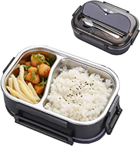 Bento Box 304 Stainless Steel Thermal Lunch Box Leakproof Food Storage Containers for Adults,Men,Women