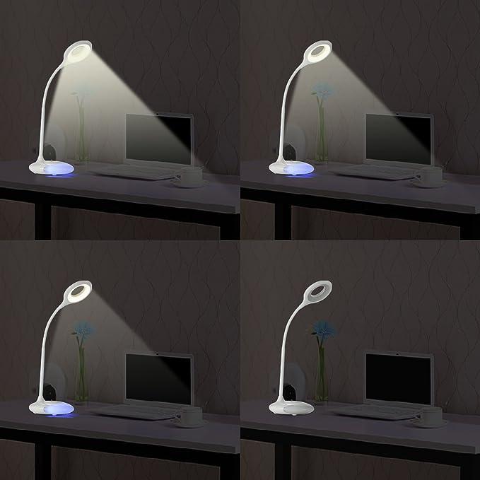 [Ojos de Esmero] dxy 7 colores de luz nocturna de tablas de lámpara, delicada de la fragancia lámpara de Control, 360 grados giratoria flexible cuello ...