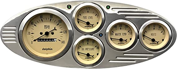 1937 1938 Chevy Car Dash Gauge Panel cluster Set Gold