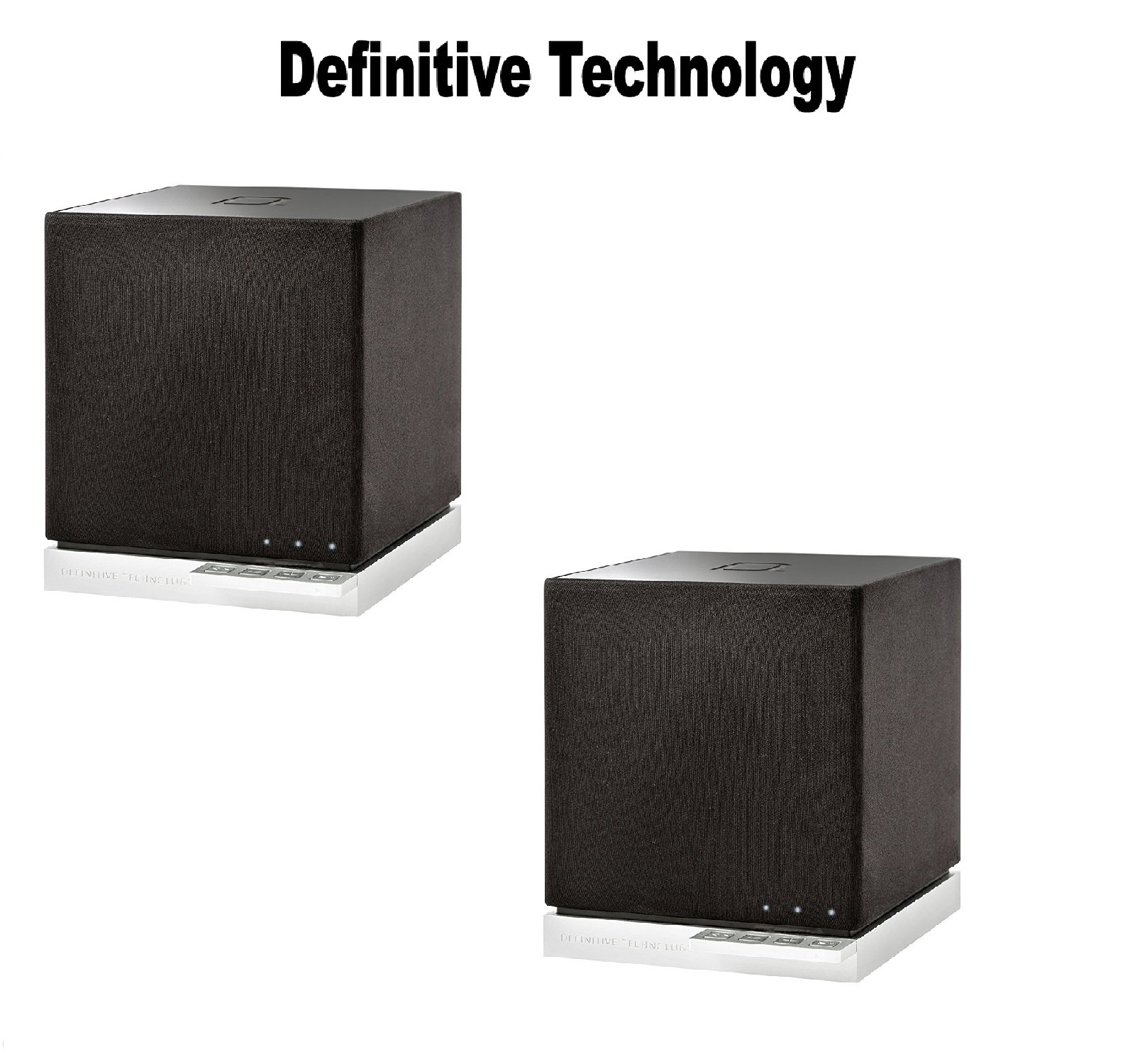 Definitive Technology (1 Pair) W7 Wireless Speaker (Black) Bundle by Definitive Technology (Image #1)