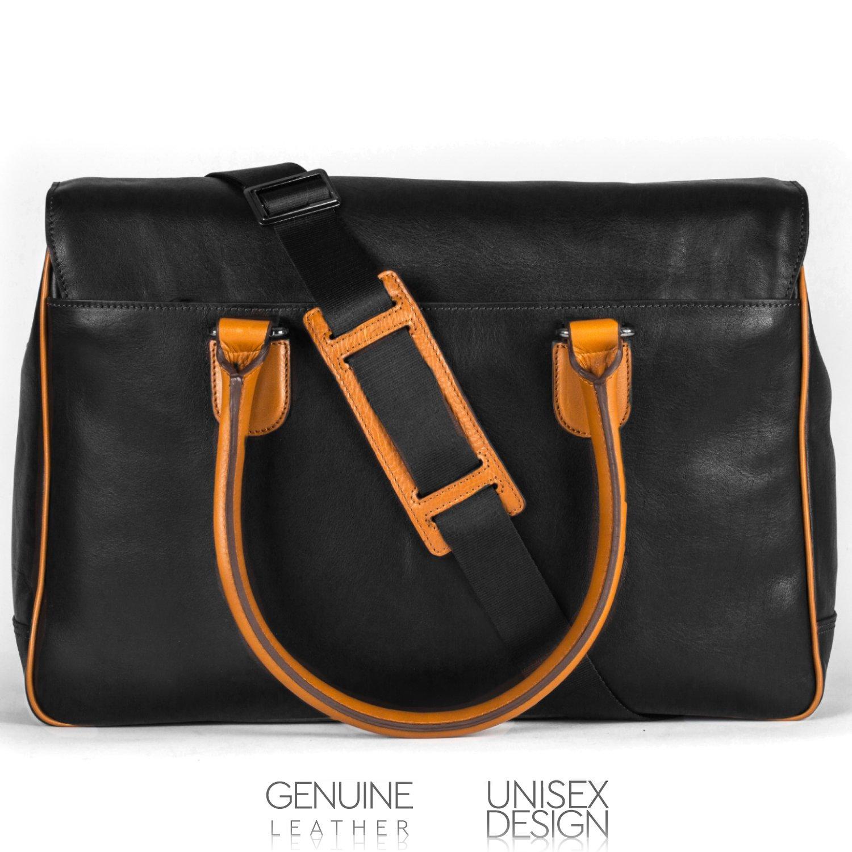 493effc743de7 OTTO Genuine Leather Designer Handbags, Unisex Messenger Bag, Classic  Shoulder Purse, 17.6 Liters (Black): Handbags: Amazon.com