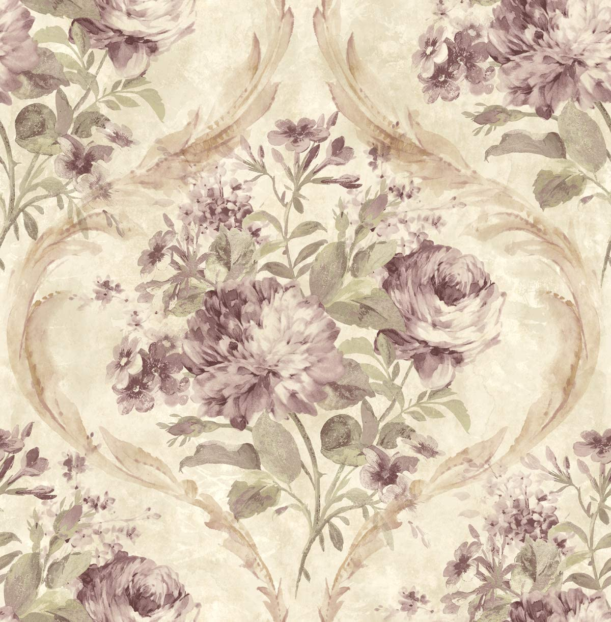 Rose Wallpaper Floral Vintage Wallpaper Floral Purple Wallpaper
