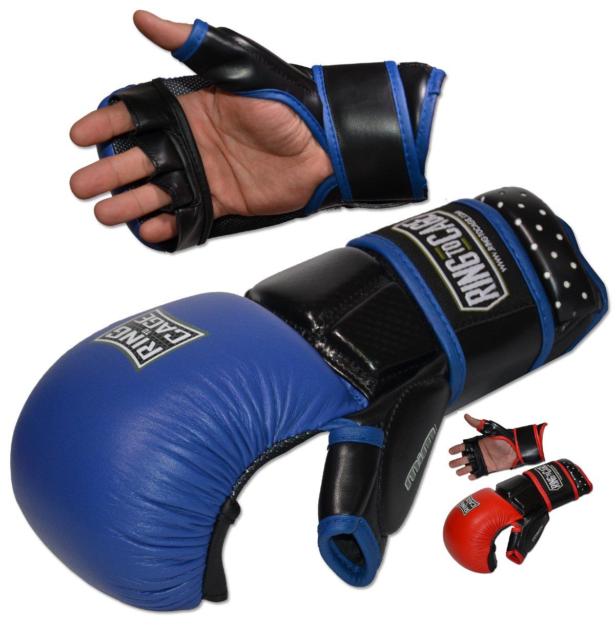 Ultima mim-foam MMA安全スパーリンググローブ B073NWSFXS ブルー Large