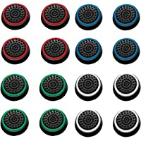 ArRord 8 Pair / 16 Pcs Replacement Wireless Controllers Silicone Analog Thumb Grip Stick Cover, Game Remote Joystick Cap…