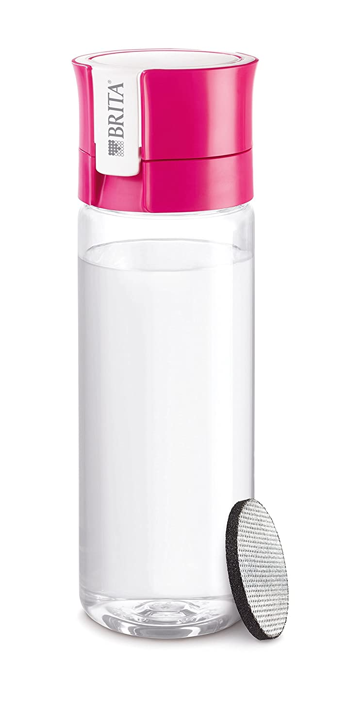 BRITA Fill and Go Vital Water Filter Bottle BPA Free Includes 1 Microdisc Lasting 150 Litres, Lime, 600 ml S1186