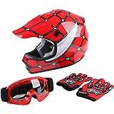 XFMT DOT Youth Kids Motocross Offroad Street Dirt Bike Helmet Goggles Gloves ATV Mx Helmet