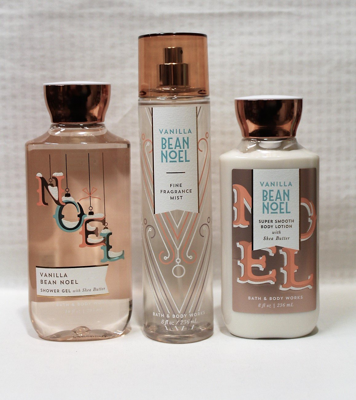 Bath & Body Works ~ Signature Collection ~ Winter 2017 ~ Vanilla Bean Noel ~ Shower Gel - Fine Fragrance Mist & Body Lotion – Trio Gift Set
