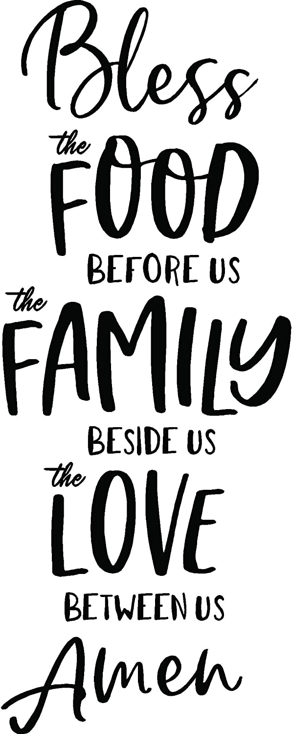 Wall Decal Bless The Food Before us Family Vinyl Inspirational Wall Treatments and Accents