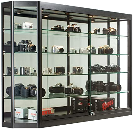 Amazon Glass Display Cabinet Illuminated Angled Front