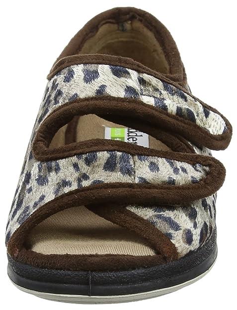 Lydia et Chaussons Marron Chaussures Padders Femme Bas dWY5qgwY4