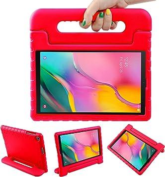 LEADSTAR Funda para Samsung Galaxy Tab A 10.1 2019, Ligero y Super Protective Antichoque EVA Estuche Protector Diseñar Especialmente Manija Caso con Soporte para los Niños, SM-T510 / T515 (Rojo): Amazon.es: Electrónica
