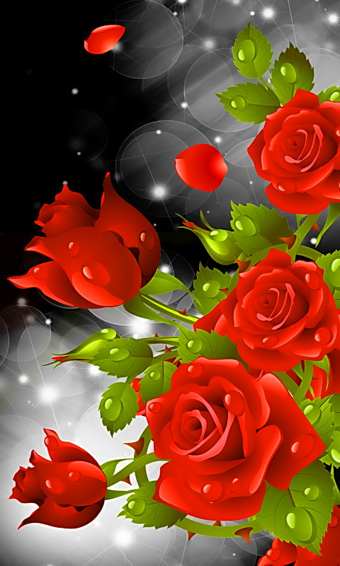 Amazon Com Red Rose Party Live Wallpaper Appstore For Android