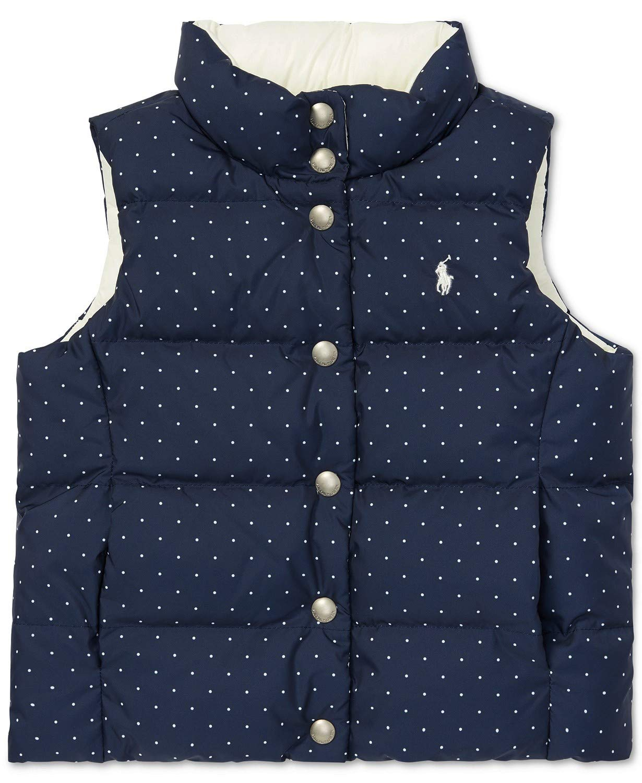 Ralph Lauren Girls Reversible Quilted Down Vest (Medium 8-10) by Ralph Lauren