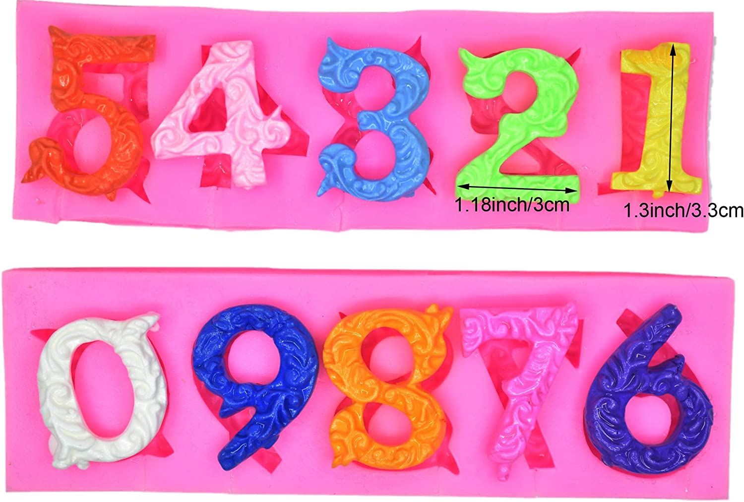 2018 Silicone Letter//Number Mold Fondant Sugar Craft Cake Decorating Tools