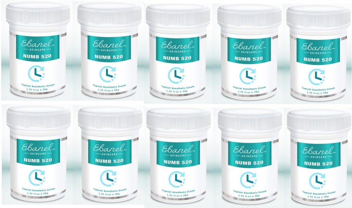(10 units) Numb 520 (1.35oz / 38g) 5% Lidocaine, Liposomal Technology for Deeper Penetration, Topical Numbing Cream, Doctor Recommended, Anorectal Discomfort by Ebanel Laboratories