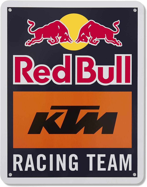 Red Bull KTM Racing Team Letrero de Metal, Azul Unisexo Talla única Letrero de Metal, Red Bull KTM Factory Racing Original Ropa & Accesorios