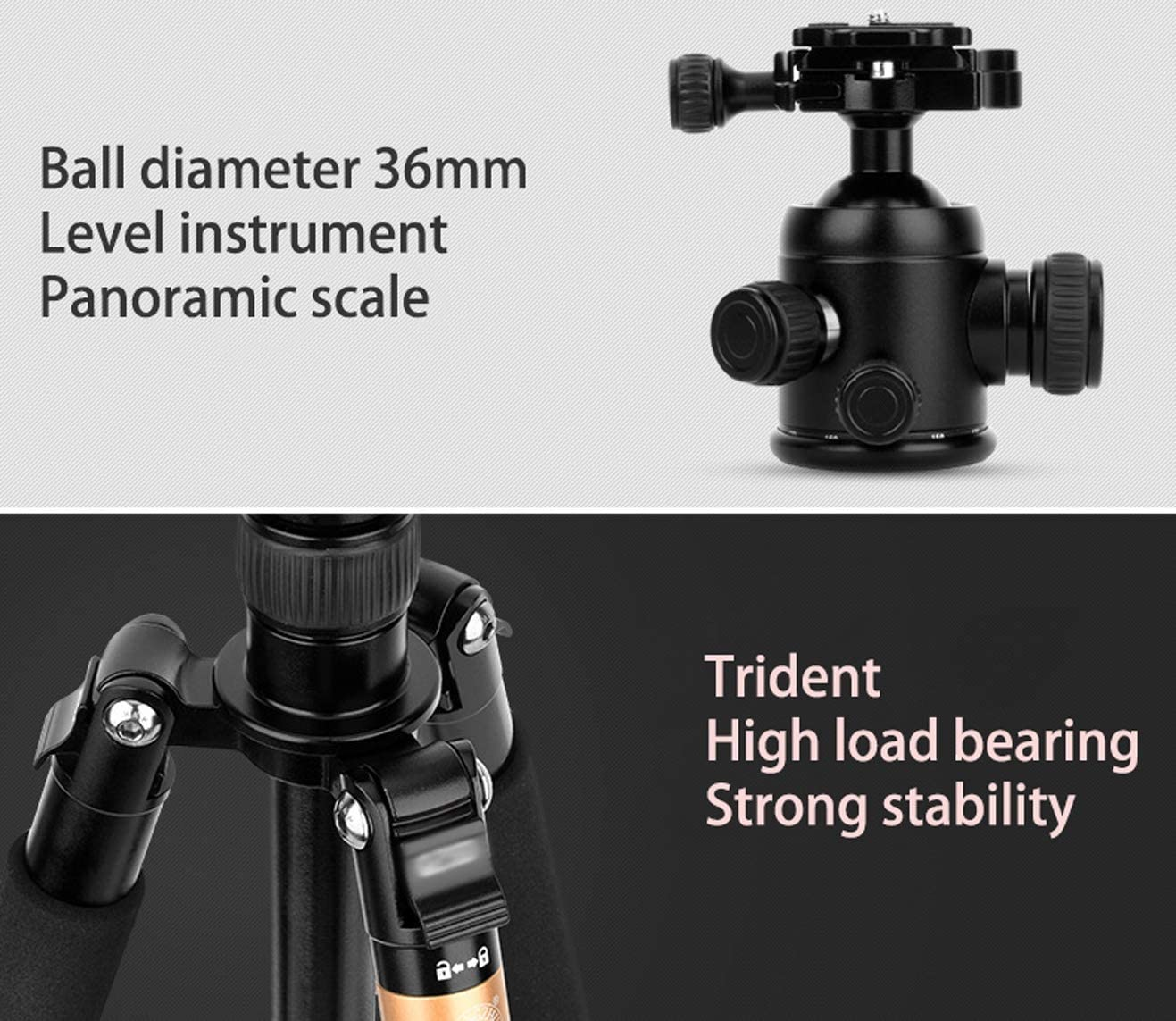 LLluckyHW 63 Inches Tripod Monopod Tabletop Tripod Adjustable Selfie Pole Macro Mini Tripod Carbon Fibre Tripod Quick Release Plate Horizontal Arm Transverse Center Column Panoramic Shooting