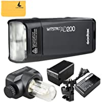 Godox AD200 TTL Speedlite Strobe Pocket Flash 200Ws 2.4G 1/8000s HSS Cordless Monolight with Double Head and 2900mAh Lithium Battery Provide 500 Full Power Flashes