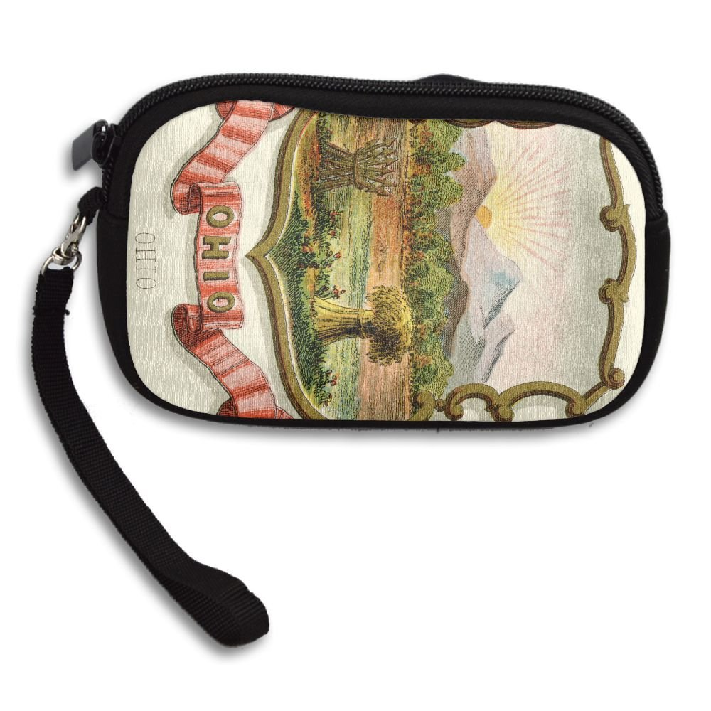 Ohio State Coat Of Arms Deluxe Printing Small Purse Portable Receiving Bag