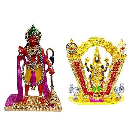 Buy Fabzone Combo of 2 God Tirupati Balaji & Hanuman Car Dashboard