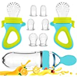 Baby Food Feeder, Fresh Food - 2 Pack Fruit Feeder Pacifier, 6 Different Sized Silicone Teething Pacifiers | 1 Pack Baby…