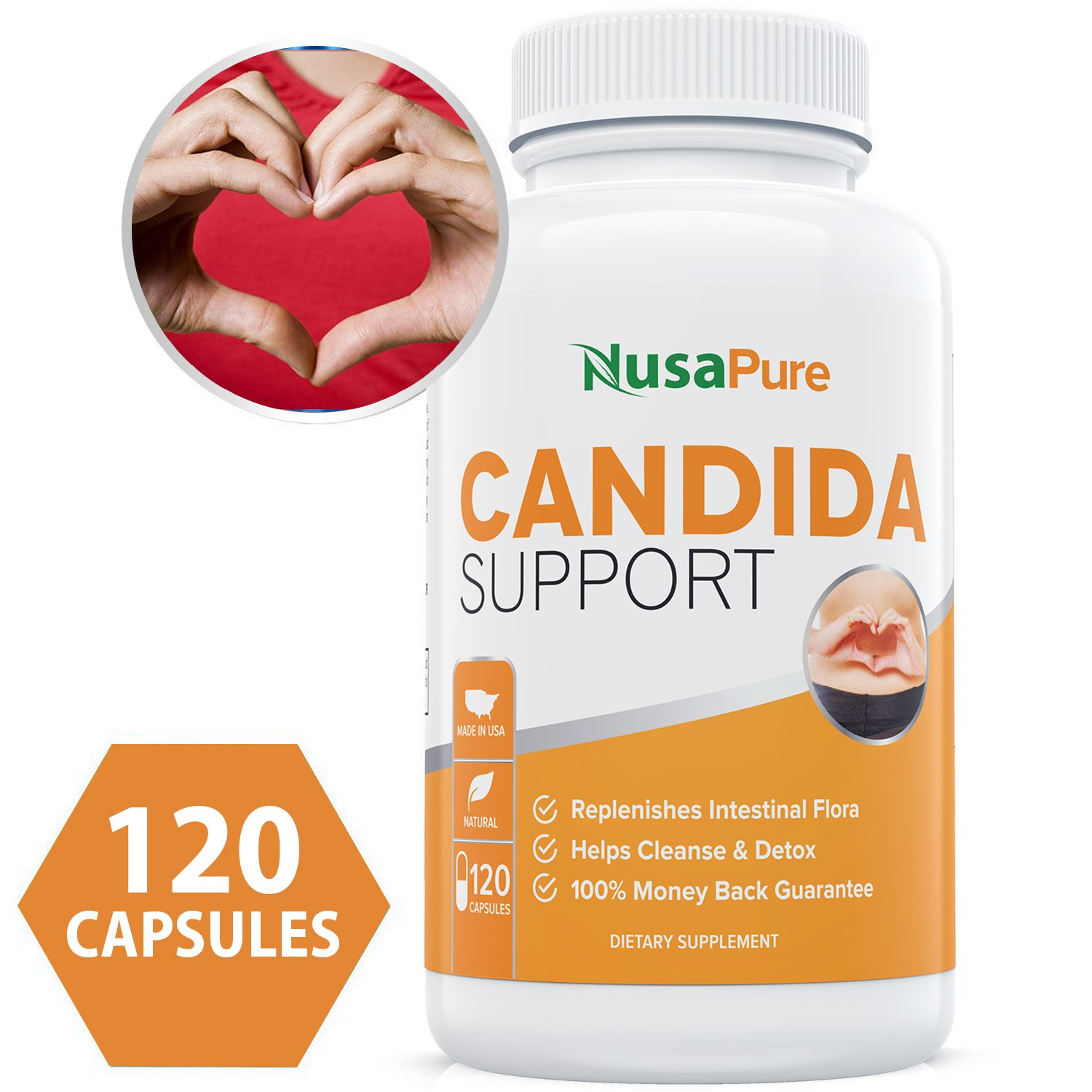 Candida Cleanse (Non-GMO) 120 Capsules: Double The Competition – Powerful Yeast Infection Treatment with Caprylic Acid, Oregano Oil & Probiotics to Clear Candida While Preventing Reoccurrence