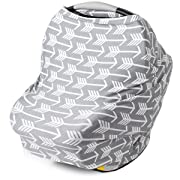 Nursing Cover, Car Seat Canopy, Shopping Cart, High Chair, Stroller and Carseat Covers for Boys and Girls - Best Stretchy Infinity Scarf and Shawl - Multi Use Breastfeeding Cover Up - Arrow Pattern