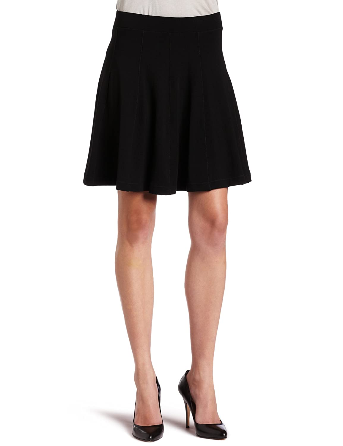 French Connection Womens Lolita Jersey Flared Skirt 73BI5