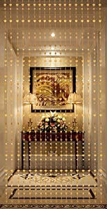 THY COLLECTIBLES Beautiful Home Decor Acrylic Beaded Curtain - Golden Heart