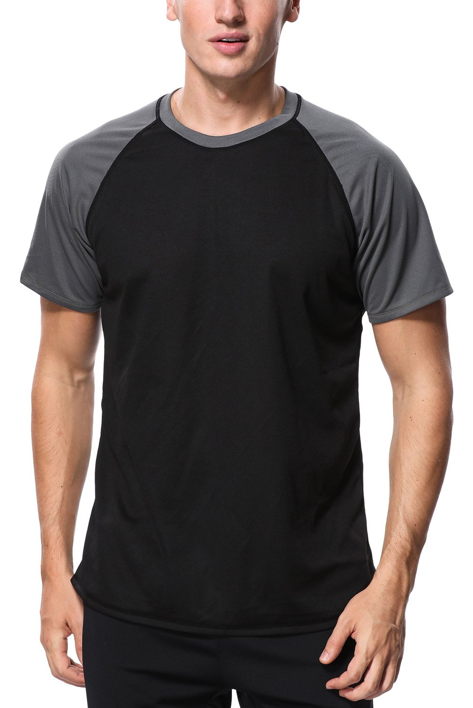 CharmLeaks Men's Sport Rash Vest Top UV Protection Rashguard Short Sleeve Wetsuit UPF50+