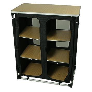 10T Cambox Multi Alu Campingschrank 85x50x105 Cm Faltschrank Mit  Ablage Platte Aluminium Zelt Schrank