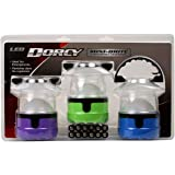 Dorcy 4 LED Mini Lantern 3 Pack withing Hanging Hooks and Batteries, Assorted Colors