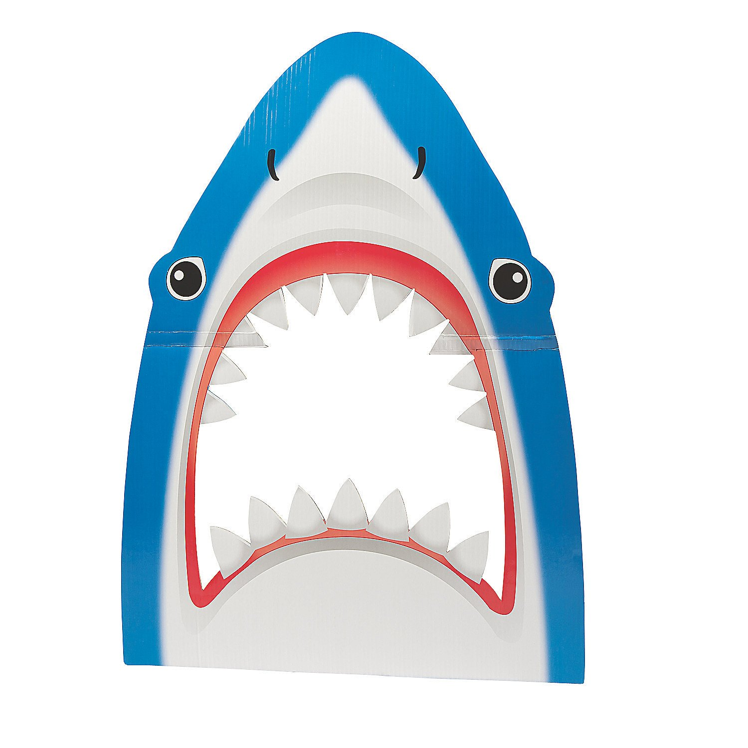 Fun Express - Shark Photo Prop for Party - Party Decor - Wall Decor - Cutouts - Party - 1 Piece