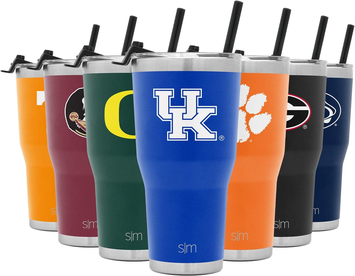 Simple Modern 30oz Cruiser Tumbler with Clear Flip Lid - Coffee Travel Tumbler Stainless Steel - Gifts for Men Women Dads: Kentucky Wildcats (NCAA Drinkware)