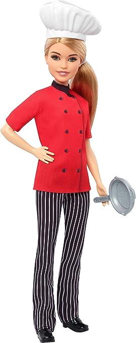 Oferta amazon: Barbie Quiero Ser Chef, muñeca rubia con accesorios (Mattel FXN99)