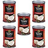 Thai Kitchen Organic Gluten Free Unsweetened Coconut Milk, 13.66 oz (Pack of 5)