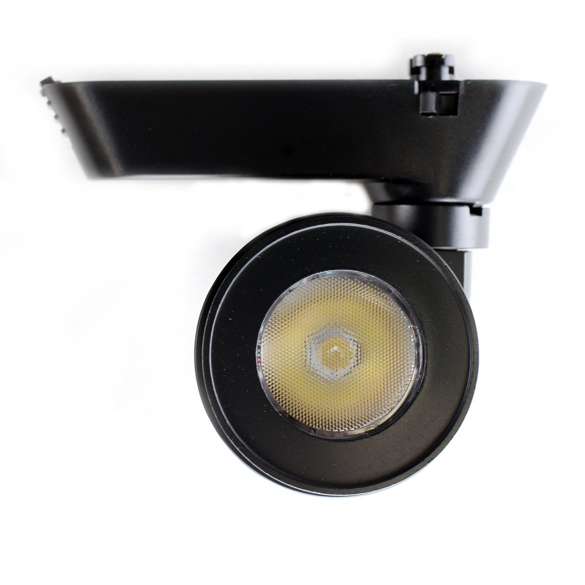 Juno Lighting T252L-3K-HC-S-BL 18W Cylindra LED Track Head, 3000K, Spot, Black by Juno Lighting