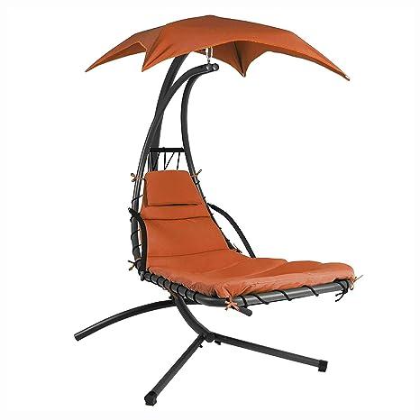 Amazon.com: Balancín de porche y planeador, color naranja ...