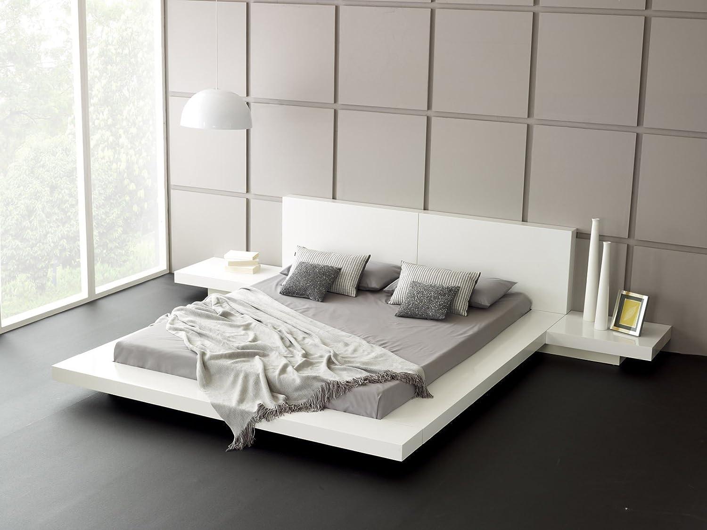 Matisse fujian modern platform bed 2 night stands king glossy white