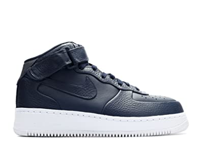 sale retailer 35ea8 119e0 Image Unavailable. Image not available for. Color  NikeLab AIR Force 1 MID  - Obsidian Obsidian-White ...