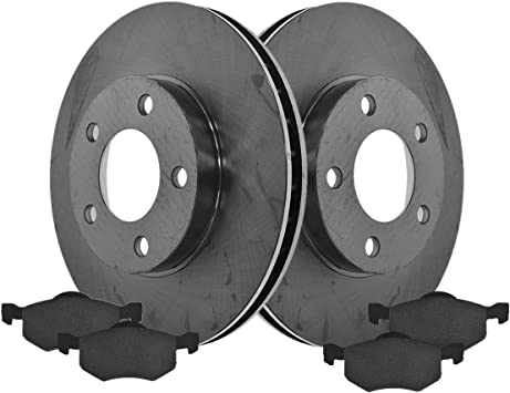 Front Disc Brake Rotors /& Ceramic Pads for 2005 2006 2007 Ford Escape 2.3L