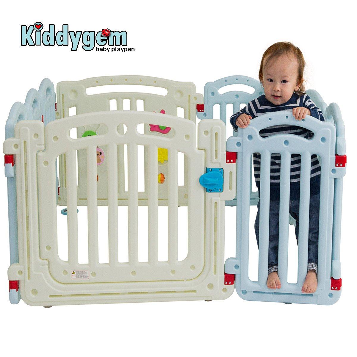 Kiddygem M7 Extra Tall Baby Playpen, Blue