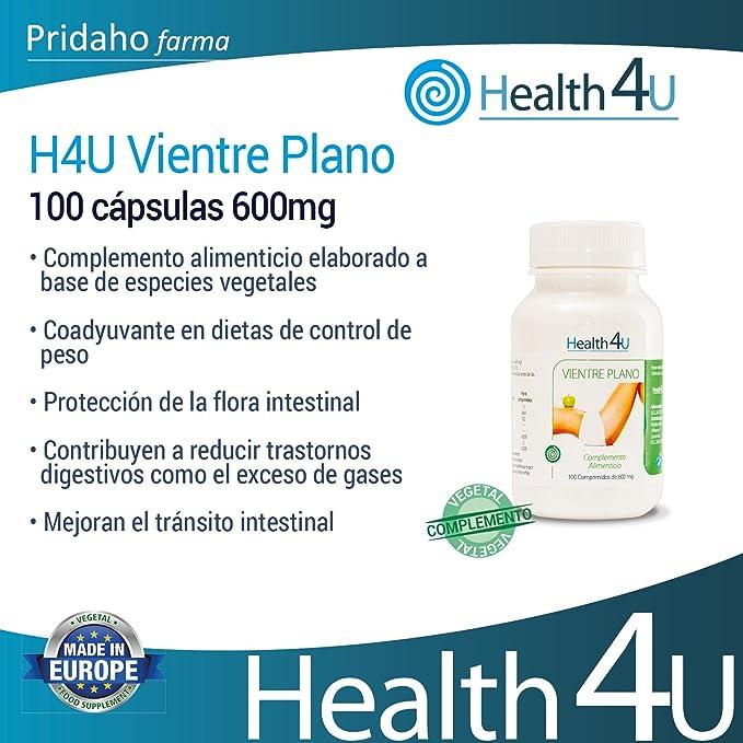 H4U - H4U Vientre Plano 100 cápsulas 600mg: Amazon.es: Salud y cuidado personal