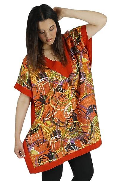 Vestido de playa ligero Kimono con estampados de moda (talla única), Estampado 1