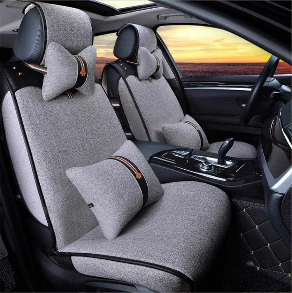 カーカーシートプロテクター用シートカバー 一般的な車のクッションカバーコットンデラックスエディション(11セット)5一般的な車のクッションカバーフォーシーズンズユニバーサル4色選択、#30 カーシートクッションカーシートマット (色 : #31)